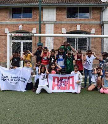 Soccer: Faneva Ima from the Barea visits ASA!